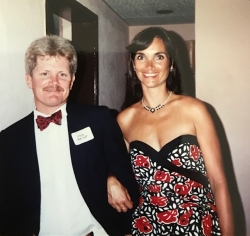 Shelley Ledoux Waters with her husband, Steve