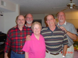 My Mom and her four boys! All of whom graduated from WPHS except for me. Gary, Steve Ken and Bill Deese