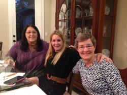 Dani Zummo Higdon, Sharon Stevenson Huffman, Becky Sewell Manuel...our 1st meeting at Becky