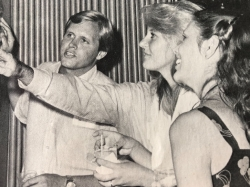 Craig Linton, Debbie Klecker and Randy MesmerLinton ….. checking out old high school pictures